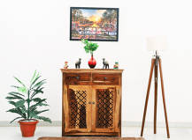 Tyrone Jigsaw cutting Sheesham Wood  Cabinet