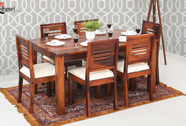 Daria 6 Seater Dining Set with Cushion Top Chairs