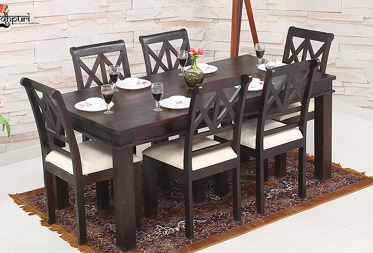 Albert 6 Seater Dining Set With Cushion Top Chairs