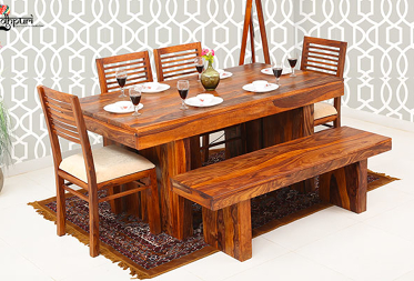 Avery 6 Seater Dining Set with Bench
