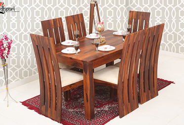 Sapphire 6 Seater Dining Set with Cushion Top Chairs