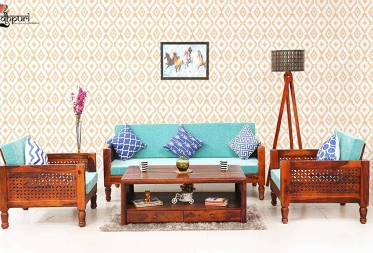Riley Sheesham wood 3 1 1  Sofa Sets