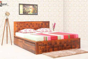 Kyra King Size Bed With Drawer Storage