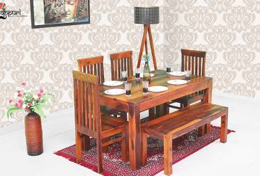 Gracia Dining Set with Bench