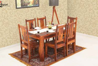 Portland Dining Set with 6 Chairs