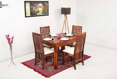 Ellen 4 Seater Dining Set with Cushion Top Chairs