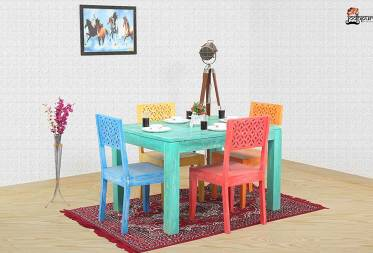 Multicolour Pearl 4 Seater Dining Set