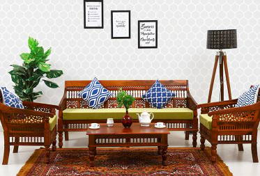 Grace Sheesham wood 3 1 1  Sofa Set