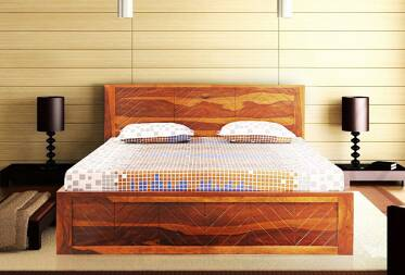 Norman King Size Bed with Drawer Storage