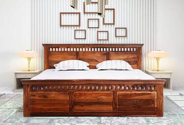 Olivia King Size Bed Without Storage