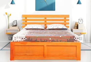 Saffron King Size Bed with Storage