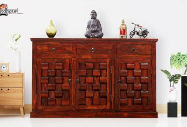 Kyra Sheesham Solid Wood Sideboard crockery unit