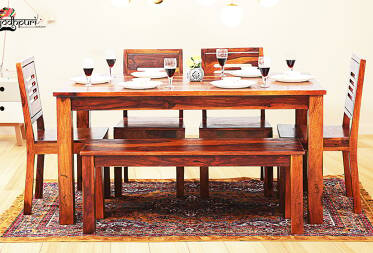 Daria 6 Seater Dining Set With Bench