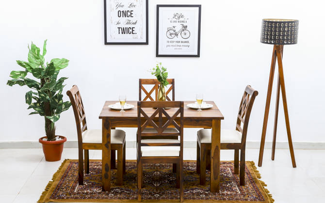 Joanne 4 seater dining set