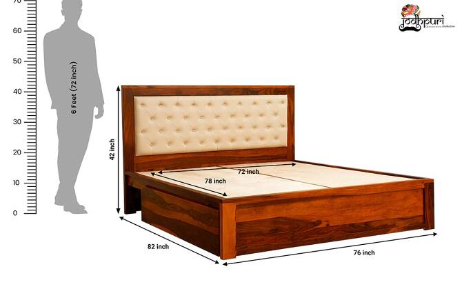Marko King Size Bed with Storage