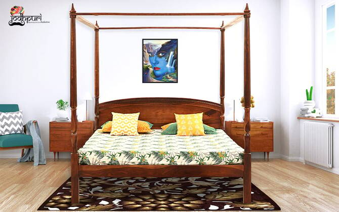 Sybil Sheesham Wood Poster Bed