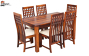 Ellen 6 Seater Dining Set with Cushion Top Chairs