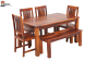 Lopez 6 Seater Dining Set with Bench
