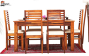 Carlos 6 Seater Dining Set with with Cushion Top Chairs