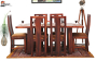 Jonas 6 Seater Dining Set with Cushion Top Chairs